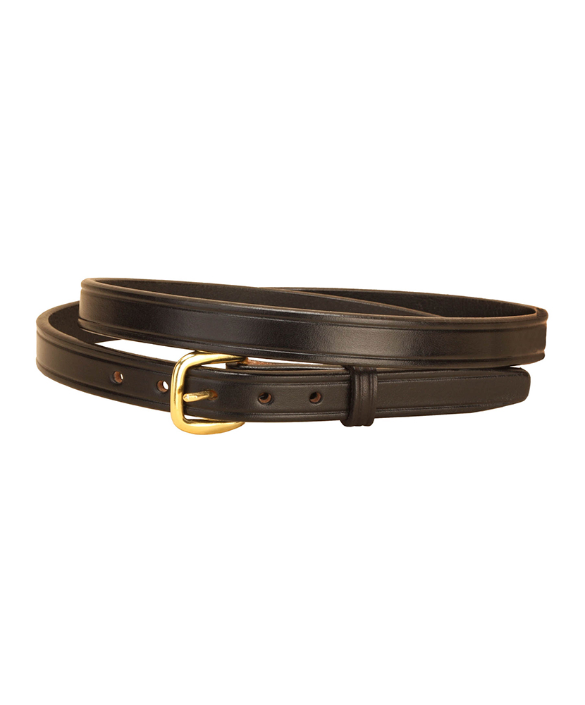 Tory Plain Creased 34 Leather Belt - BROWN - 38