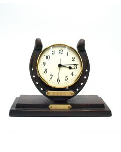 Oklahoma Casting Horseshoe Clock with Engravable Plates