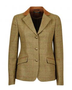 Kids Dublin Albany Tailored Tweed Jacket with Suede Collar