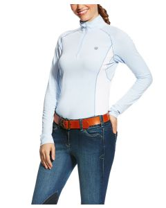 Ariat Ladies Tri Factor Print 1/4 Zip Top