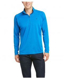 Ariat Mens Sunstopper 2.0 1/4 Zip Solid Color Shirt