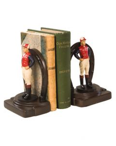 Oklahoma Casting Jockey & Horseshoe Bookend Pair