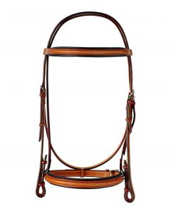 "Edgewood Fancy Raised Padded 1"" Width Bridle with Fancy Laced Reins"