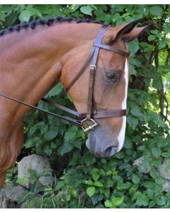 "Foxtrot Flat Hunt Bridle with 3/4"" Flat Laced Pin Reins"