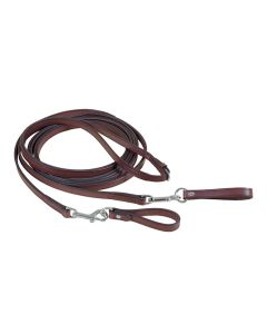 """Tory 5/8"""" Leather Draw Reins w/ Snap Ends"""