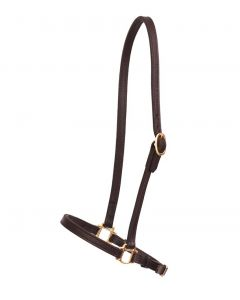 "3/4"" Leather Grooming Halter"