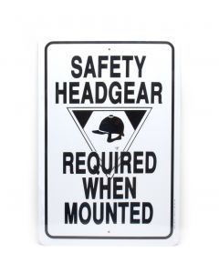 """Noble Beast Safety Headgear Required  12"""" x 18"""" Aluminum Sign"""