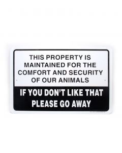 """Noble Beast Property Maintained 18"""" x 12"""" Aluminum Sign"""