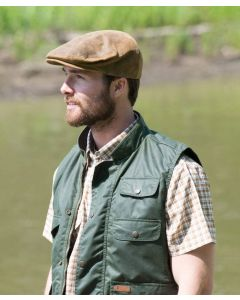 Outback Trading Leather Ascot Cap