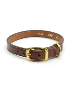 Tory Saddle Stitch Dog Collar
