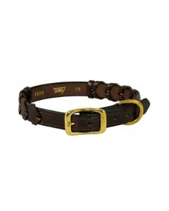 Tory Leather Laced Dog Collar
