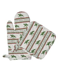Pomegranate Oven Mitt Set of 2