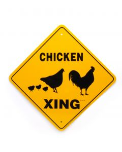 """Noble Beast Chicking X-ing 12"""" x 12"""" Sign"""