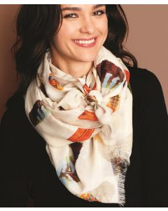 Twos Company Falling Feathers Scarf