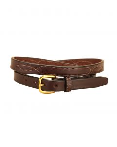 "Tory Repeated Stitch 3/4"" Leather Belt"