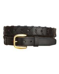 "Tory 1.25"" Laced Leather Belt"