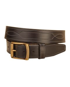 """Tory Repeated Stitch 1.5"""" Leather Belt"""