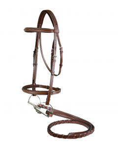 Toulouse Annice Bridle w/ Fancy Stitched Laced Reins