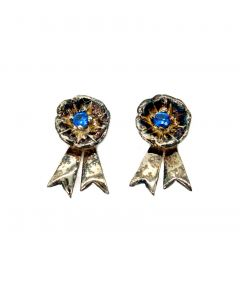 Loriece Blue Rosette Earring with Spinel