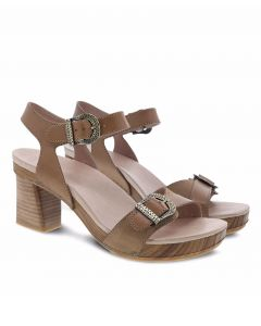 Dansko Anna Burnished Calf Block Heel Sandal