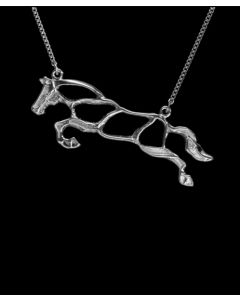 Jumper Silhouette Necklace by Loriece