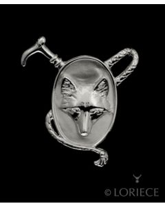 Silver Fox Mask & Whip Necklace
