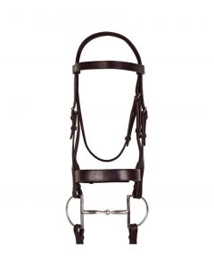 Ovation Classic Wide Hunt Bridle with Laced Reins