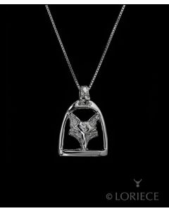 Fox Mask in Stirrup Necklace by Loriece