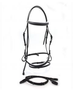 HDR Pro Padded Dressage Bridle with Web Reins