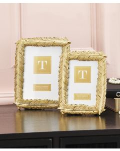 Gold Feather 5x7 Photo Frame