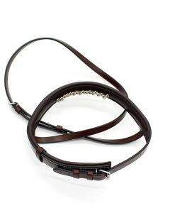Red Barn Fancy Raised Stitched Chain Noseband