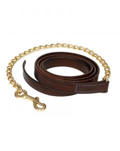 """Walsh Leather Lead Shank with 24"""" Chain"""