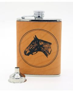 Richard Bishop Leather Covered Stainless Steel Flask