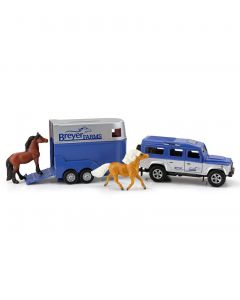 Breyer Land Rover and Tag-A-Long Horse Trailer