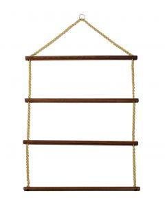 """Wooden Blanket Rack With Chain 36"""""""