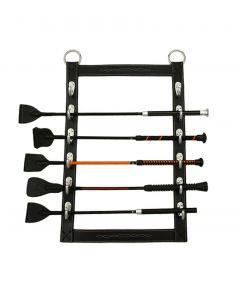 Horse Fare Leather Whip Rack