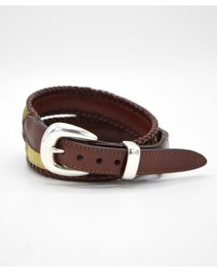 Brighton Santos Fabric Laced Leather Belt
