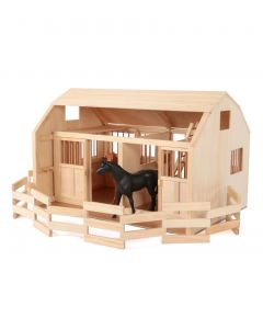 Grand Stable Wooden Barn with Corral