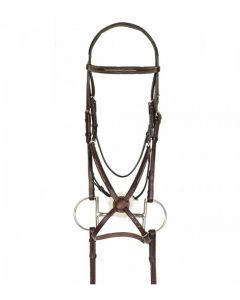 Aramas Fancy Raised Padded Figure-8 Bridle with Rubber  Grip Reins