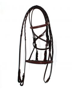 Americana Plain Raised Bridle by Harmohn Kraft