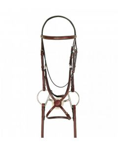 Americana Fancy Raised Padded Figure-8 Bridle with Fancy Rubber Grip Reins