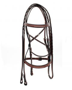 Americana Fancy Square Raised Padded Bridle by Harmon Kraft