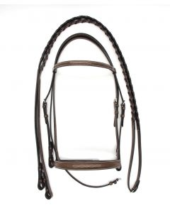 Americana Fancy Mild Raised Bridle with Laced Reins