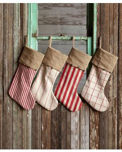 Park Hill Vintage Stocking with Jingle Bells