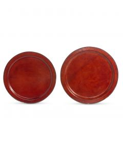 Park Hill Hudson Leather Round Trays