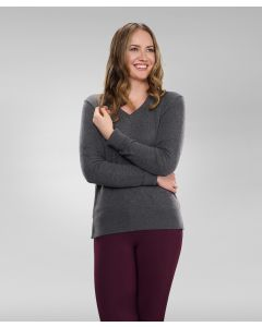 Ladies Angelina V-Neck Sweater by Hannah Childs