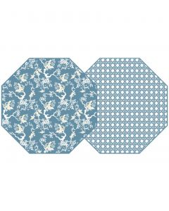 Holly Stuart Octagonal Two Sided Chinois & Cane