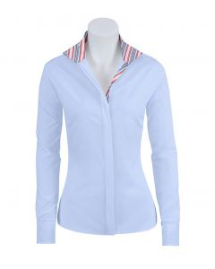 RJ Classics Ladies Prix Riding Shirt with Assorted Striped Collar