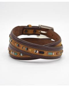Brighton Seacliff Tapered Leather Belt