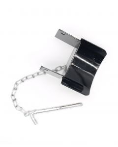 Metal/Steel Deep Jump Cup with Chain and Pin - Sold in Pairs